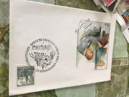 AUSTRIA STUPENDA BUSTA UOMINI ILLUSTRI AFFRANCATA PAESAGGI - America (Other)