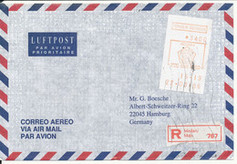 Indonesia Registered Air Mail Cover With Meter Cancel 22-3-1996 Sent To Germany - Indonesia