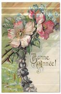 Gauffrée Fleurs Bonne Année ! - Anno Nuovo