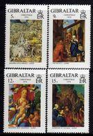 Gibraltar N° 384 / 87 XX  Noël, Tableaux De Dürer. Les 4 Valeurs Sans Charnière,  TB - Gibraltar