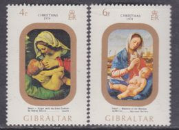Gibraltar N° 312 / 13 XX  Noël, Les 4 Valeurs Sans Charnière, TB - Gibraltar