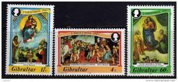 Gibraltar N° 480 / 82 XX  Noël, Les 3 Valeurs Sans Charnière, TB - Gibraltar