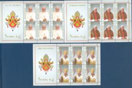 Vaticano 2005 Sass. 1375/77 Minifogli Da 10 **/MNH VF - Blocks & Sheetlets & Panes