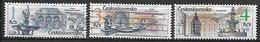 TCHECOSLOVAQUIE     -    1988 .    Y&T N° 2771 - 2773 - 2774 Oblitérés.   Fontaines. - Usados