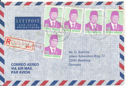 Indonesia Registered Air Mail Cover Sent To Germany 28-5-1996 Topic Stamps - Indonesia