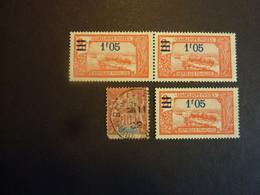 GUADELOUPE, Année 1892 YT N° 31 Oblitéré + Année 1924 YT N° 93 X 3 Neufs Sans Gomme - Unused Stamps