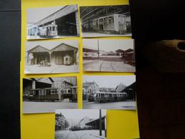 Photo ,TRAMWAY Et Gares Du RHONE , Collection Bourneuf ,lire Descriptif ,Lyon Perrache., Parmentier ,Alsace ... - Trains