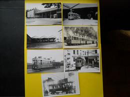 Photo ,TRAMWAY Et Gares Du RHONE , Collection Bourneuf ,lire Descriptif ,Lyon Perrache., Parmentier , Fontaine Sur S ... - Trains