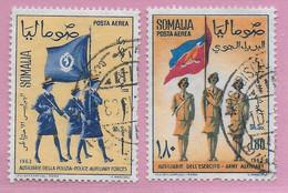 SOMALIA -1963 - FORZE AUSILIARIE FEMMINILI - POSTA AEREA- SERIE 2 VALORI - USATA ( YVERT AV 20\21 - MICHEL 47\48) - Somalie (1960-...)