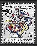 TCHECOSLOVAQUIE    -    1989 .   Y&T N° 2812 Oblitéré.  Danse Folklorique - Usados
