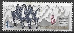 TCHECOSLOVAQUIE    -    1989 .   Y&T N° 2813 Oblitéré.  Cavaliers Et Montagnes. - Usados