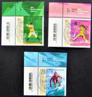 """Bund/BRD Mai 2021, Satz """"Sporthilfe - Neue Olympische Sportarten"""" MiNr 3602-3604, Ecke 1, Ersttagsgestempelt - Gebruikt"""