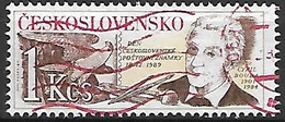 TCHECOSLOVAQUIE   -   1989 .  Y&T N° 2829 Oblitéré.  Journée Du Timbre.  Cyril Bouda, Graveur - Usados