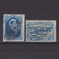 NEWFOUNDLAND CANADA 1880, SG# 47a-48, Part Set, Used - 1865-1902