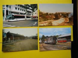 Photo ,TRAMWAY Et Gares Du RHONE , Collection Bourneuf ,lire Descriptif  , Lyon Part Dieu 12 Clichés - Trains