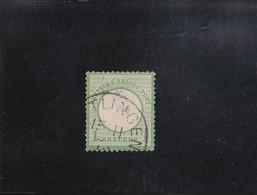 AIGLE EN RELIEF GROS ECUSSON  1 K VERT JAUNE OBLITéRé N° 20 YVERT ET TELLIER 1872 - Oblitérés