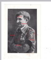 Orginal Armée Secrète Memoriaal Lt  Colonel Haus Commandant Zone III A.S STEUN VOOR MEMORIAL Kolonel Haus - 1939-45