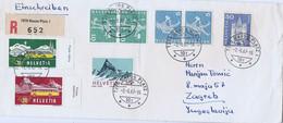 """Zwitserland Aangetekende Brief Uit 1957  """"7270 Davos Platz 1"""" (1408) - Unclassified"""