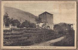 CPA ITALIE - VALLE D'AOSTA - S. PIERRE - Castello La Tour De La Crête - TB PLAN EDIFICE Château Partie Du Village - Otras Ciudades