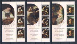San Marino (2021) 450th Anniversary Of Birth Of Caravaggio * Set Of 3 Vertical Strips With Margins (MNH) - Religious