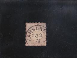 AIGLE EN RELIEF GROS ECUSSON 1/4 G. VIOLET  OBLITéRé N° 13 YVERT ET TELLIER 1872 - Oblitérés