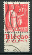 """21659 FRANCE N°283°(178) 50c. Type Paix : """"Blécao"""" En Une Minute  1932  B/TB - Publicidad"""