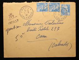14 - Calvados Recommandé Provisiore De Creully 1947 - 1921-1960: Periodo Moderno