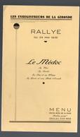 Soulac (33 Gironde)  Menu 1936 HOTEL DE  LA PLAGE (Robin Propr) Rallye Des Enregistreurs De La Gironde (PPP28905) - Menú