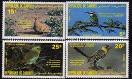 Djibouti N° 596 / 99 XX Bicentenaire De La Naissance De J. J. Audubon La Série Des 4 Valeurs Sans Charnière TB - Yibuti (1977-...)