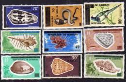 Djibouti N° 445 / 57 XX : Timbres Des Afars Et Issas Surchargés, La Série Des 13 Valeurs Sans Charnière TB - Yibuti (1977-...)