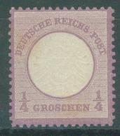 REICH - MVLH/* - 1872 - 1/4 Gr BIG EAGLE -  Mi 16 Yv 13 - Lot 23513 - VERY LIGHT HINGED - Neufs