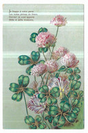 Gauffrée Fleurs Trèfles Poème - Non Classificati