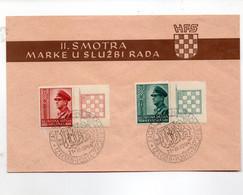 HOG356 - CROAZIA ,  FDC  Del 21/3/1944  (CRT) Ustascia / Pavelitch - Croazia