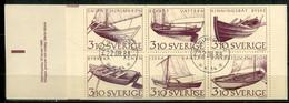 Sweden Mi# 1467-72 Markenheftchen/booklet Gestempelt/used - Transport Ships - 1981-..