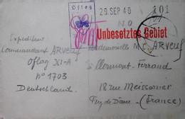 H 8 1939/45  Lettre /carte /documents Carte Photo Oflag XI A Illustrée Trefle - Guerra Del 1939-45