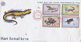 """Indonesie FDC """"Hari Sosial Ke IX 1955"""" (1427) - Indonésie"""
