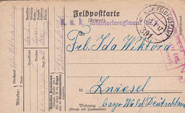 Feldpostkarte K.u.k. Infanterieregiment Nr. 11 - Nach Zwiesel - 1917 (56161) - Cartas