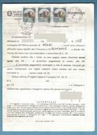 EW300    ITALIA 1991 STORIA POSTALE CASTELLI £.450  X3 SU MOD.489  POSTE ITALIANE SERVIZIO RISCOSSIONI - 1991-00: Marcofilia