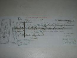 CAMBIALE MASSIMO USIGLIO  1879 CORFU-CON MARCA DA BOLLO 1FL AUSTRIA - Cambiali