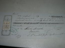 CAMBIALE MASSIMO USIGLIO  1879 CORFU-CON MARCA DA BOLLO GRECIA - Cambiali