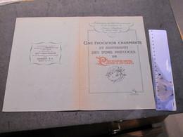 S.A.SANDOZ 1947 - 125e Anniversaire De Louis PASTEUR- 2 PORTRAITS REALISES PAR PASTEUR M ET Mme ROCH D'ARBOIS - Publicidad