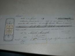 CAMBIALE MASSIMO USIGLIO  1879 CORFU-CON MARCA DA BOLLO GRECIA E MARCA DA BOLLO 90 KR AUSTRIA - Cambiali