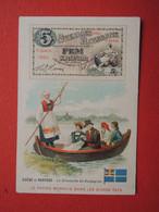 CHROMO Tisane Des Pères Célestins.Texte Au Dos. Le Papier Monnaie Suède Norvège. Dimanche En  Dalecarlie - Unclassified