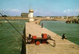 CPM - PÊCHE à La LIGNE - LA TURBALLE - Pêcheurs à L'entrée Du Port ... - Pesca
