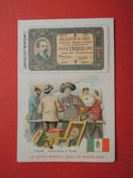 CHROMO Tisane Des Pères Célestins.Texte Au Dos. Le Papier Monnaie Italie. Bouquiniste à Rome - Unclassified