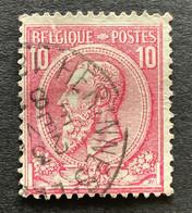 Leopold II OBP 46 - 10c Gestempeld HERINNES - LEZ - PECQ - 1884-1891 Leopold II