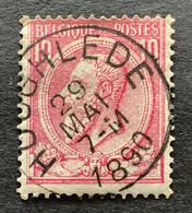 Leopold II OBP 46 - 10c Gestempeld HOOGHLEDE - 1884-1891 Leopoldo II