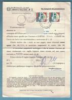 EW301    ITALIA 1994 STORIA POSTALE CASTELLI £.650 COPPIA SU MOD.489  POSTE ITALIANE SERVIZIO RISCOSSIONI - 1991-00: Marcofilia