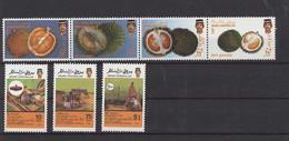 Brunei 1988 MiNr. 372/5 + 376/8 - Früchte - Landwirtschaft - Postfrisch - MNH - ** - Brunei (1984-...)