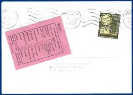 Island 1986, Retour Etikett Auf Orts Brief V. Reykjavik. Rücks. 2 Stempel. #218 - Unclassified